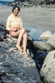A great Kodachrome beach portrait from 1961
