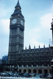 The Big Ben clock tower in 1961