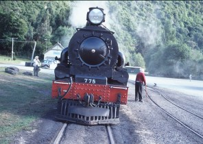 A photo of the Kingston Flyer steam engine in New Zealand