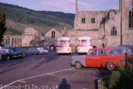 The car park at Tintern Abbey from 1963