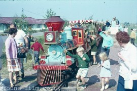 Children's holiday train ride in Penarth, Wales from 1964