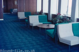 Interior of a ferry from the 1970s