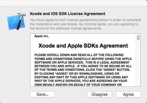 Xcode同意のイメージです