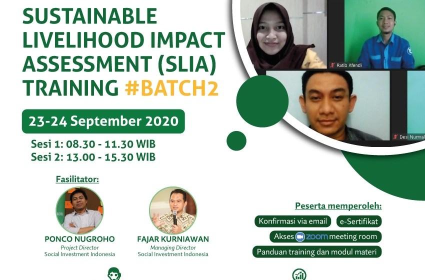 Sustainable Livelihood Impact Assessment (SLIA) Training #Batch2