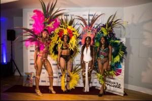 Dancers in carnival costume.