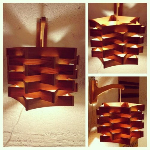 Shaved Pine Wall Lamps
