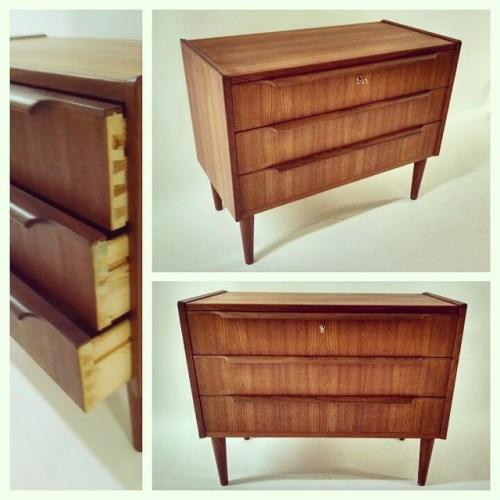 3-Drawer Teak Dresser