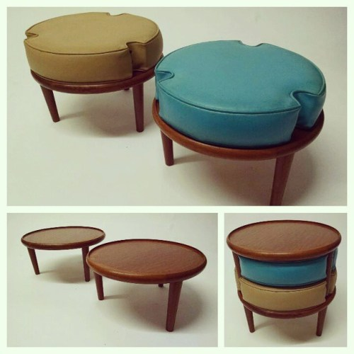 End Table / 2 Stools