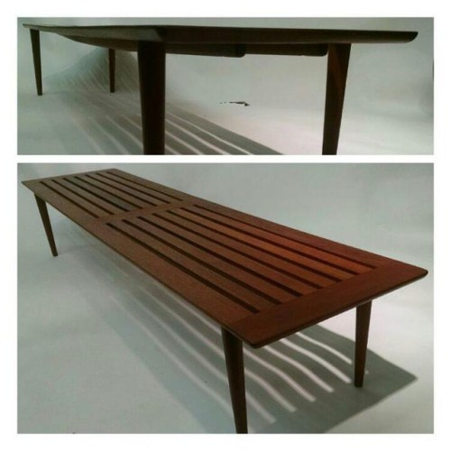 Slat Bench for George Tanier