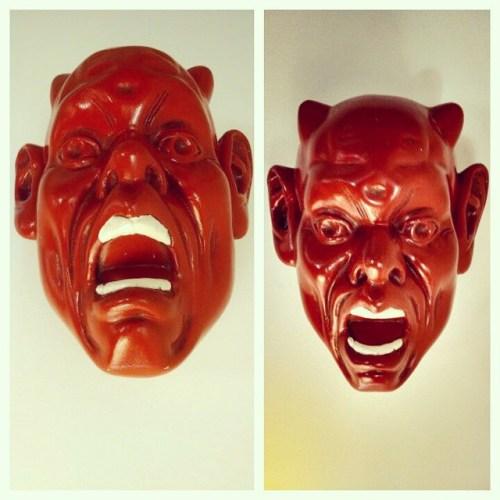 60s Belgian Plaster Wall Mask