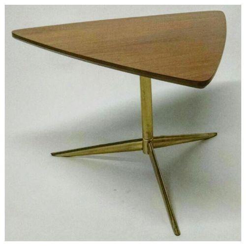 Italian Walnut and Brass Table