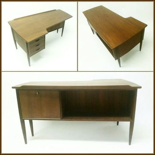 L-shaped Teak Desk