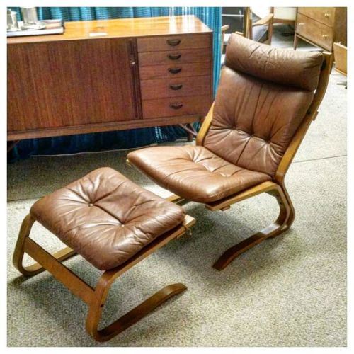 Solheim Chair and Ottoman