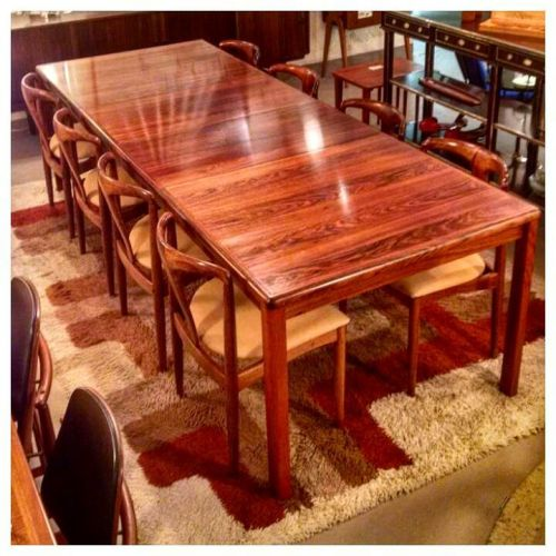 Rosewood Dining Table and 8 Chairs