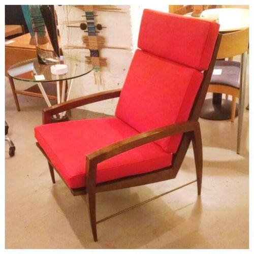 Solid Walnut Lounge Chair