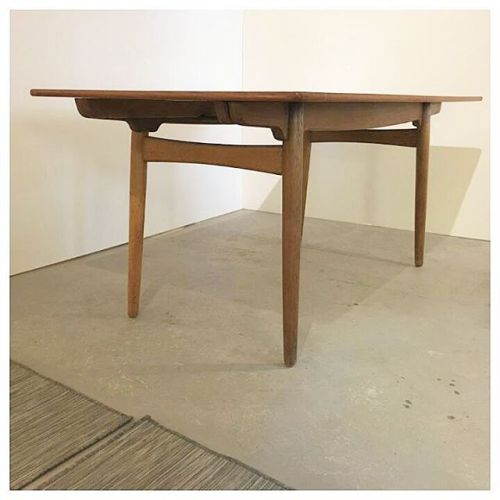 Teak and Oak Table by Hans Wegner