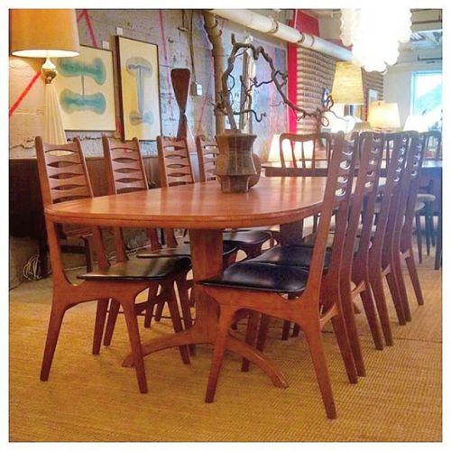 8 Kai Kristiansen Ladder Back Chairs