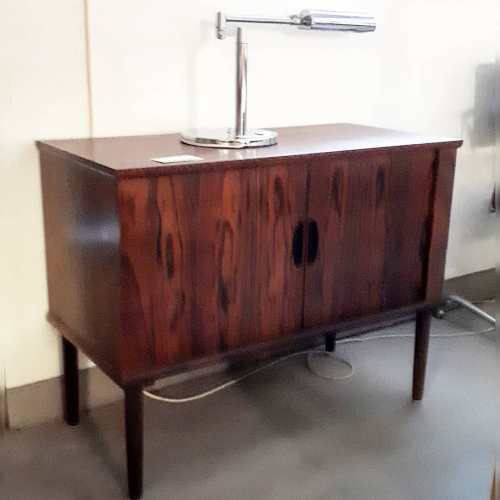 Rosewood Cabinet with Tambour Doors