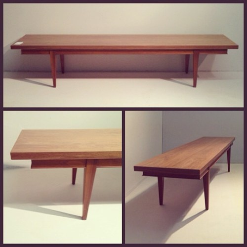 1950s Custom Walnut Bench