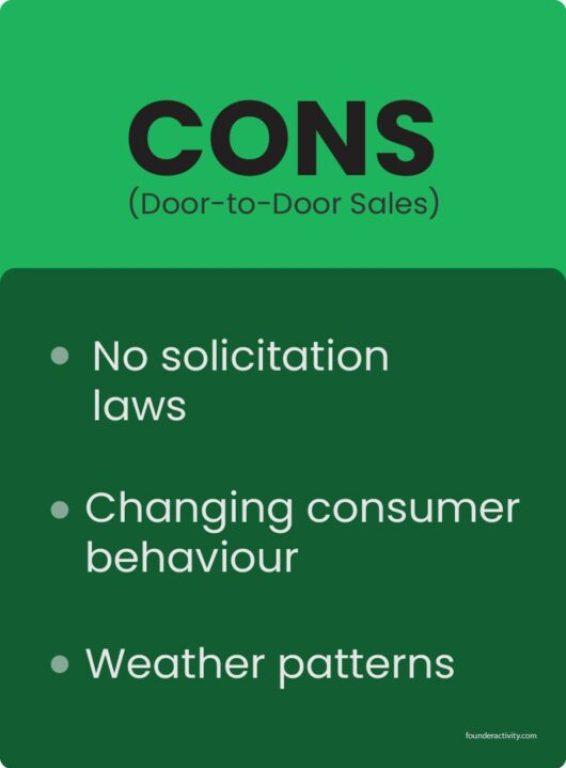 door to door sales cons no solicitation lows changing consumer behaviour weather patterns infographic  Door To Door Sales 101: Best Guide for Success