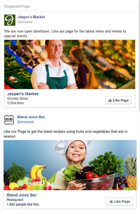 Facebook marketing strategy for small business Page Likes
