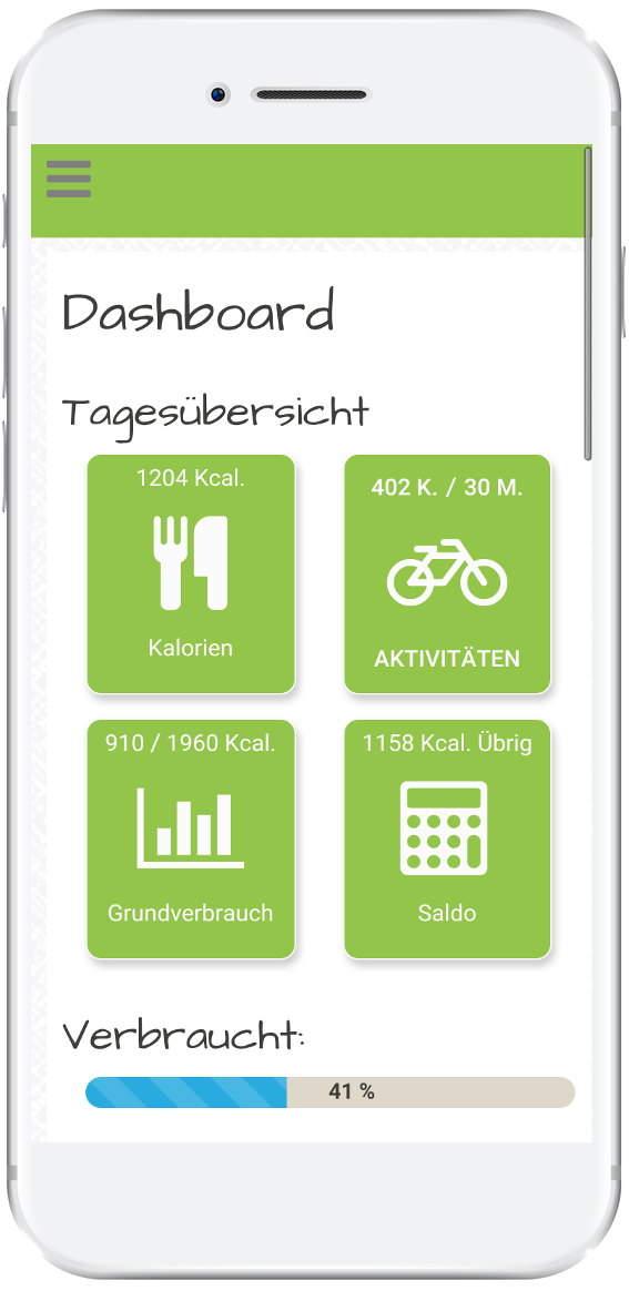 Ernährungstagebuch Deluxe App Smartphone