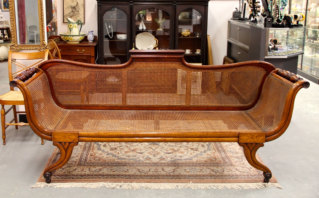 Good Found In Ithaca Antique Mahogany Teak Cane Carved Plantation