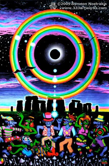 Eclipse Over Stonehenge Triplethree Foundmyself