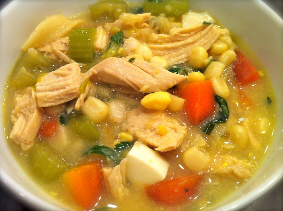 AMISH-STYLE CHICKEN CORN SOUP - One of the first recipes I added to my blog, this healthy comfort food is a perfect recipe to transition from summer to fall and will continue to satisfy all winter long!