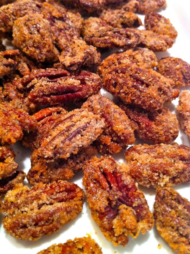 Spiced Pecans are a delightful salad addition and a super satisfying snack. Great for gift giving, too.
