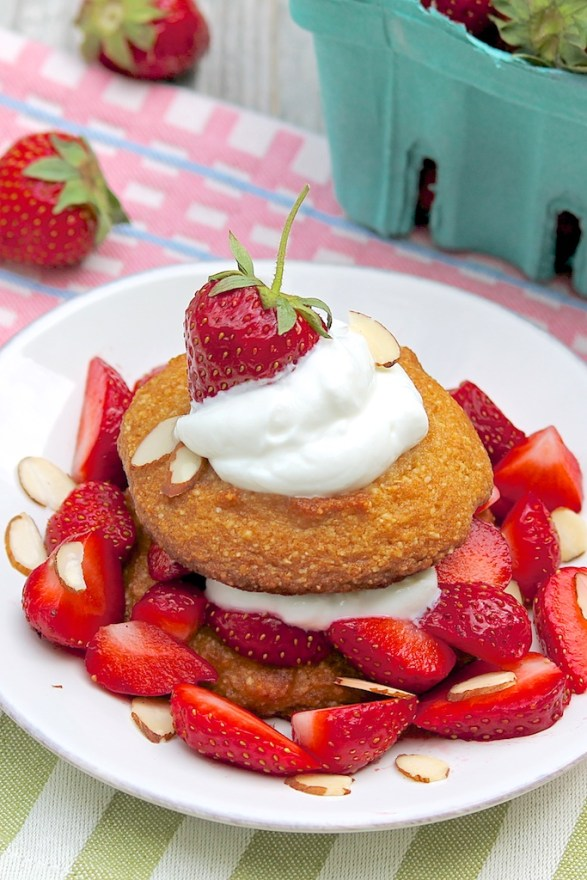 Almond Coconut Strawberry Shortcakes -- healthy & gluten-free