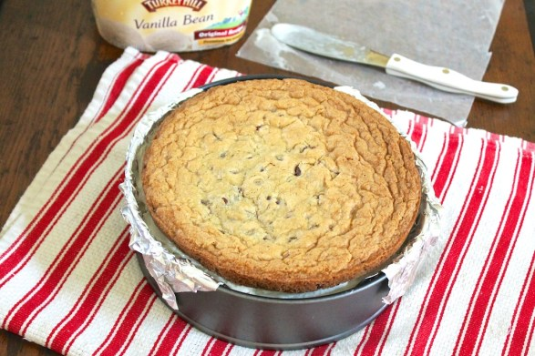 If you have a springform pan or other 10-inch round pan, it will be helpful when filling the cookie with ice cream. If not, it can certainly be done without.