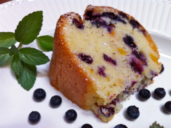 A handful of basic pantry ingredients and fruit is all that's needed to whip up this fabulous pound cake. The flavors improve as the cake sits, so the recipe is ideal if you are looking for day-ahead preparation.