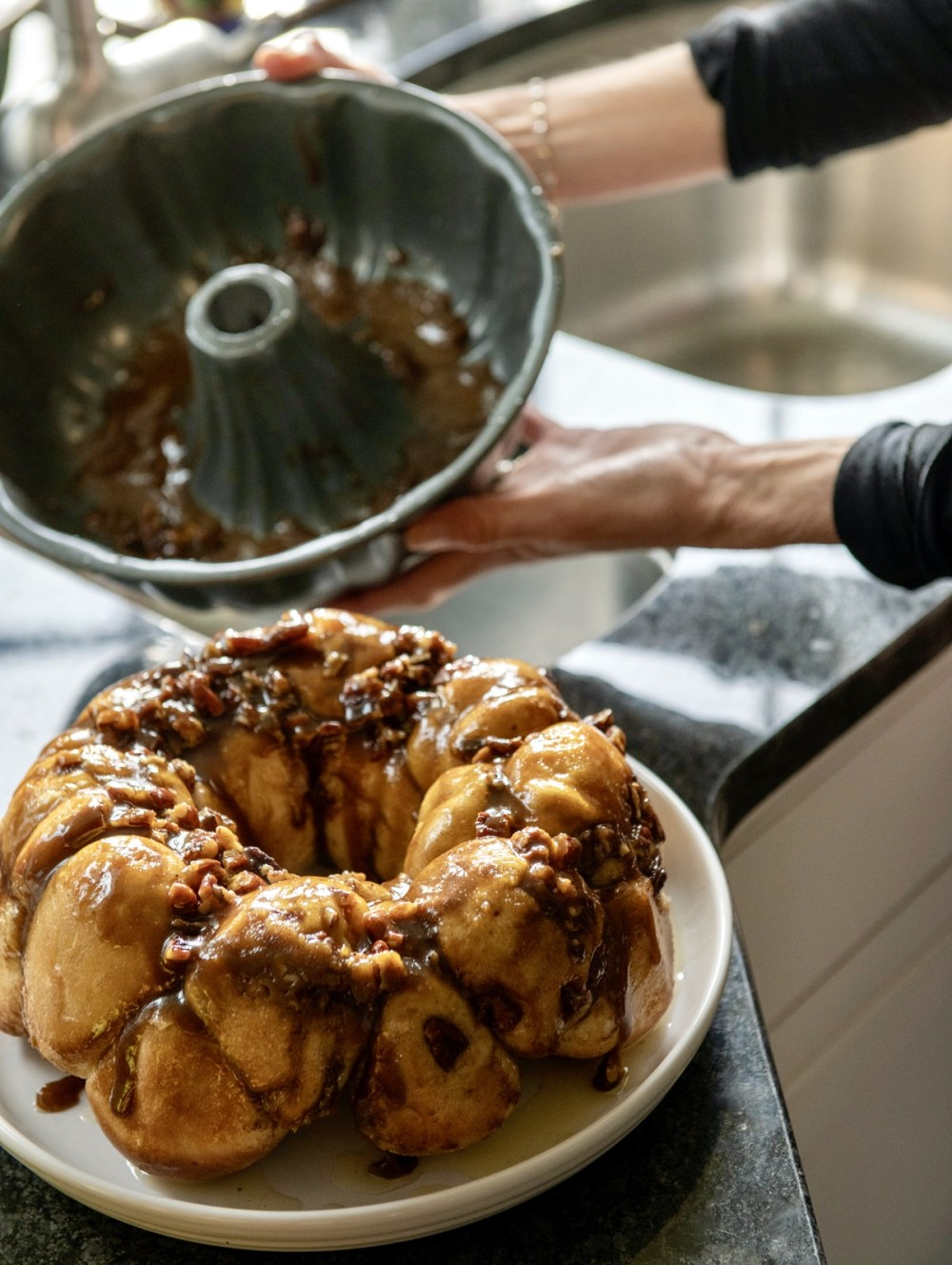 A clever shortcut and prep-ahead convenience make these tried-and-true sticky buns as easy as they are delicious. The recipe has long been a family favorite on holidays and special occasions. As an added bonus, the aroma wafting from your kitchen will remind you of the corner bakery!