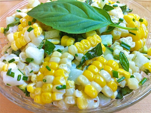Corn and Cucumber Salad -- a super-easy crowd-pleaser