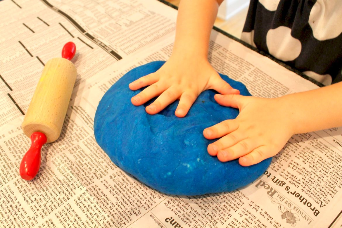 Homemade Play Dough is easy with these simple instructions. As an added bonus, the texture is so much smoother than store-bought and there's less crumby mess!