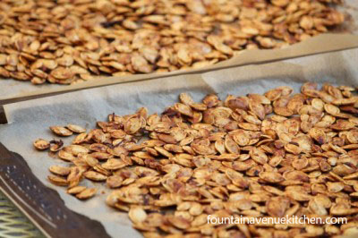 Roasted Pumpkin Seeds – Easy, foolproof method for perfectly crisp seeds every time...and no need to remove all the goop!