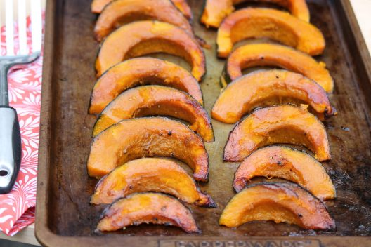 This seasonal family favorite is so easy and so good. For added ease, I like to use Kabocha, Delicata, or another variety of winter squash that doesn't require peeling.