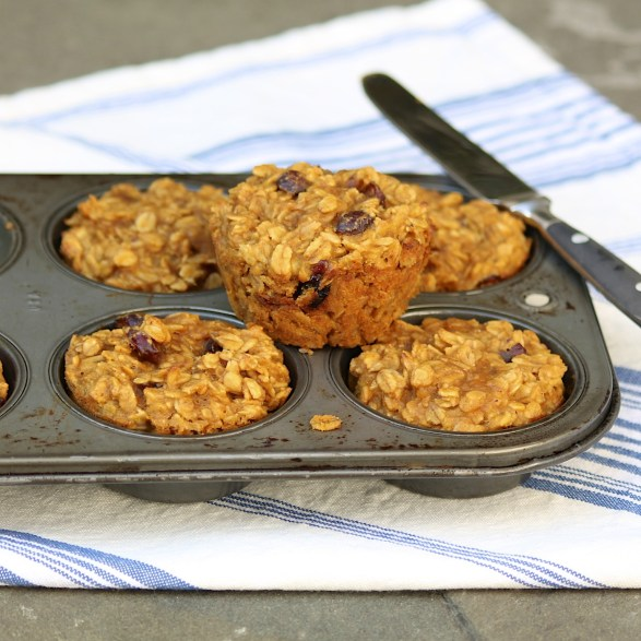 Lots of easy ways to customize these healthy, delicious BAKED OATMEAL MUFFINS, which happen to be vegan, eggless, gluten- and dairy-free!