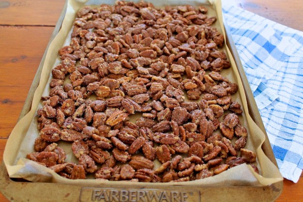 Spiced Pecans - perfect for salads, snacking and holiday gift giving