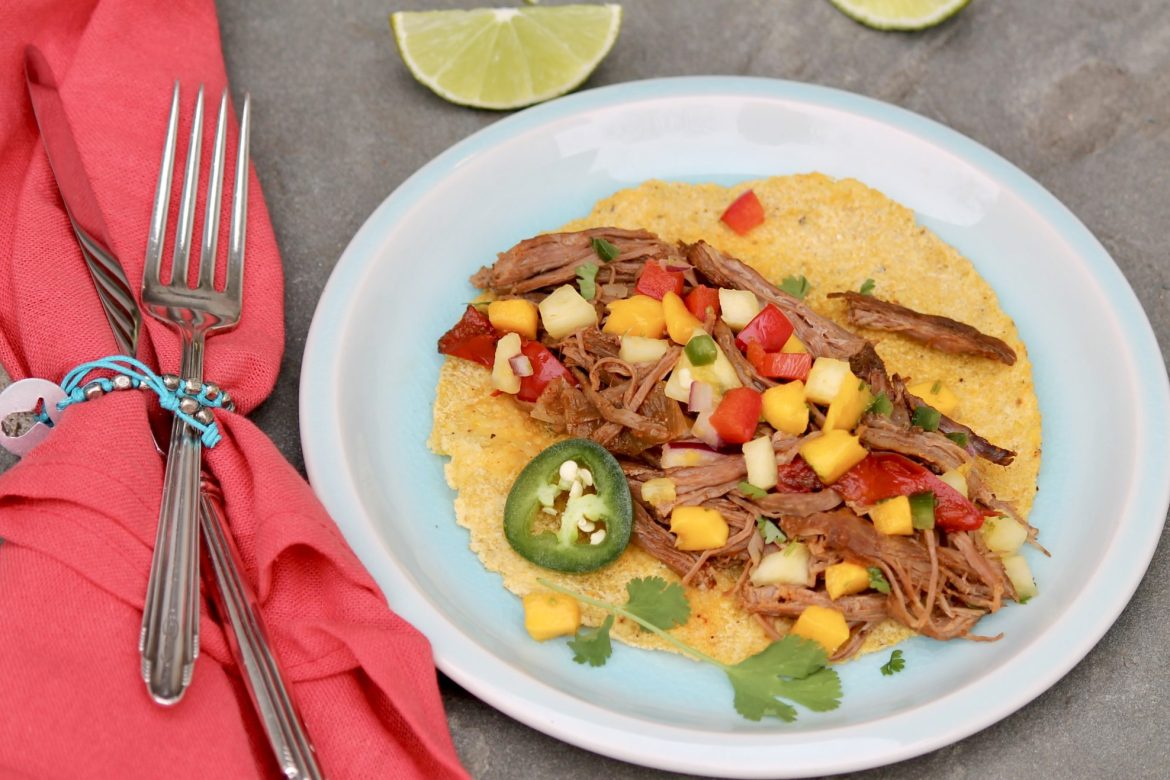 Slow Cooker Mexican Flank Steak combines veggies and lean protein in one, easy-to-assemble meal that can be customized with a variety of toppings. It's family-friendly and worthy of a spot on the weekly rotation!