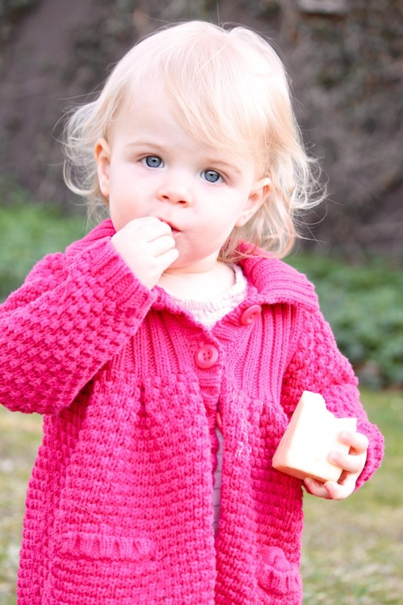 Evie eats the whole wedge of cheese; )