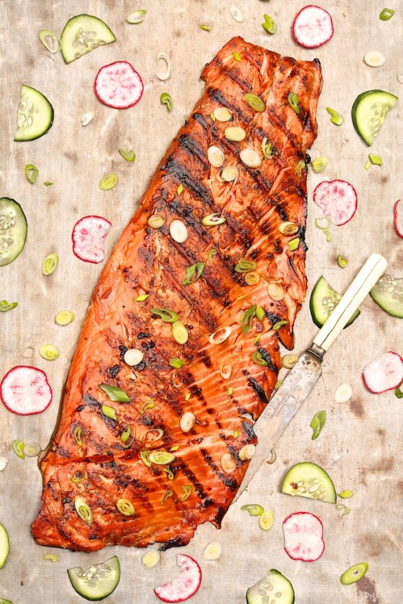 Grilled Teriyaki Salmon -- quick to prep and so delicious