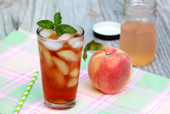How do you make the quintessential summer drink even more refreshingly delicious? Add a sweet peach infusion! (Works with fresh or frozen peaches.)