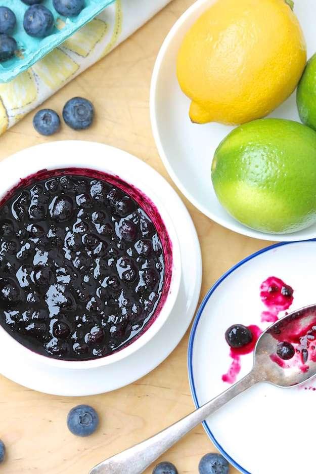 Easy Blueberry Lemon (or Lime) Sauce