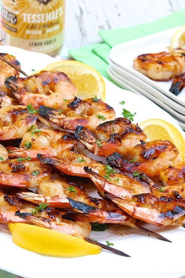 Snappy Honey Grilled Shrimp