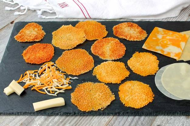These easy cheese crisps take minutes to make with a variety of cheese you likely have on hand...always a crowd-pleaser!