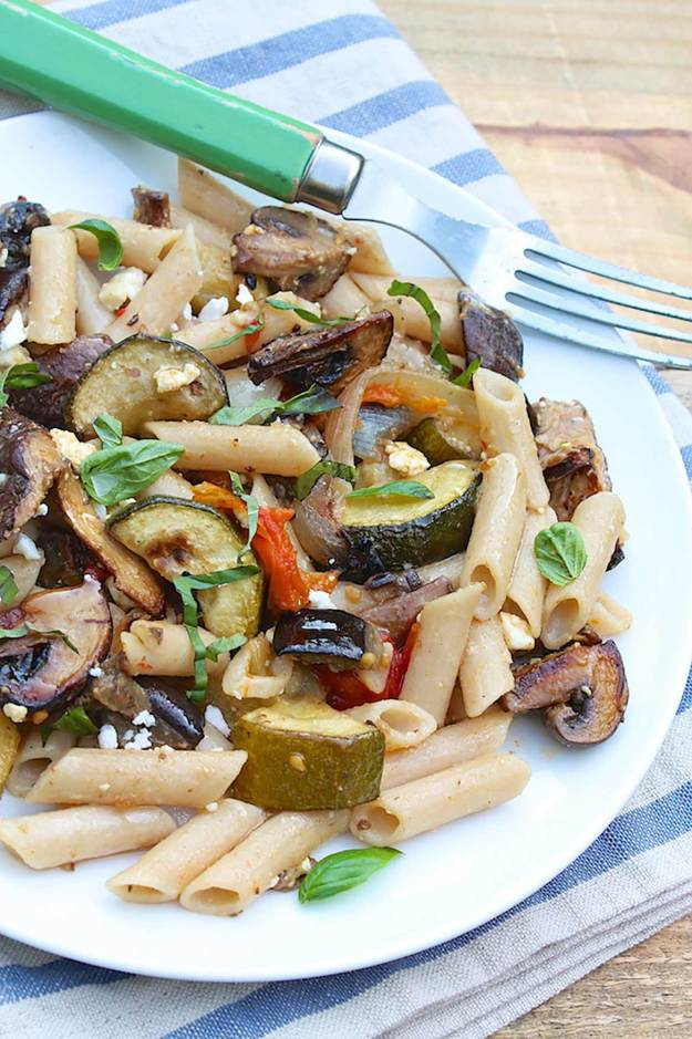This garden-fresh dish is super simple to make and complements most any protein. When tossed with pasta, it becomes a complete meal!