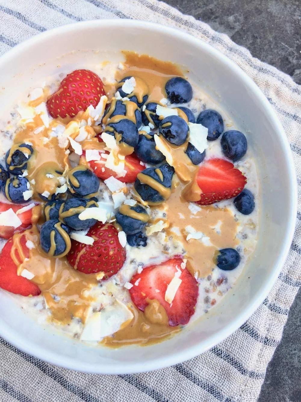 Nuts & Seeds Overnight N'Oats -- Paleo, vegan, gluten- and dairy-free, this wholesome breakfast can be customized to taste and provides serious staying power.
