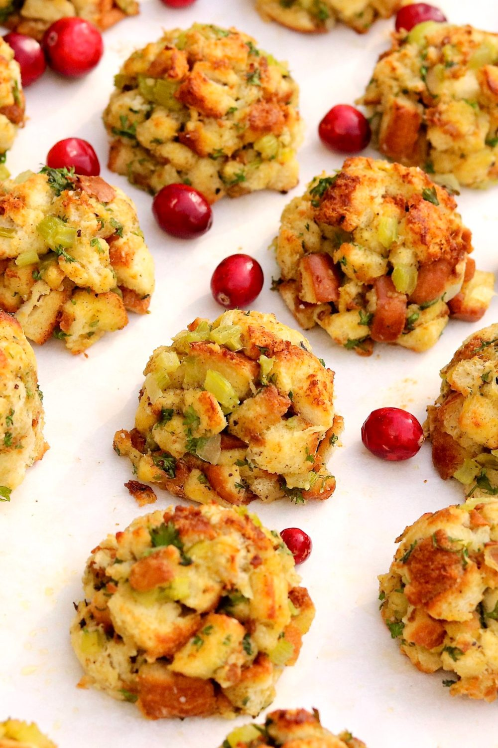 Stuffing Balls  -  Clever, portion-controlled, and a surefire hit on a holiday table or alongside a variety of poultry and pork dishes throughout the year. They're easy to make for any size crowd and offer prep-ahead convenience.